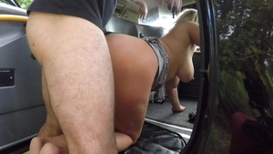 Hard pounding together with big butt blonde