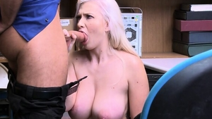 Fucked hard along with big tits blonde wearing uniform