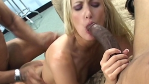 Blonde Angel Long has a passion for rough nailing