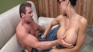 Blowjob scene together with erotic rough Lisa Ann