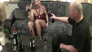 Good fuck in company with very sexy deutsch blonde