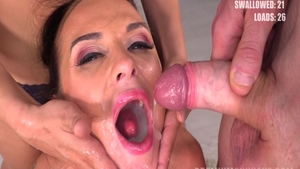Big butt and hot Cristal Caitlin cum in mouth