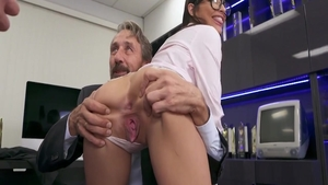 Mick Blue accompanied by babe Steve Holmes threesome