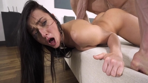 Dirty brunette Katy Rose really likes nailing