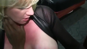 Busty blonde babe being fucked by BBC