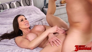 Fucking in the company of big tits mature Kendra Lust