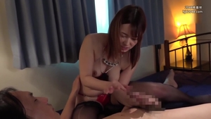 Femdom in company with big tits asian