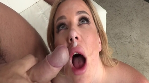 Very sexy blonde Ramon Nomar helps with cock sucking