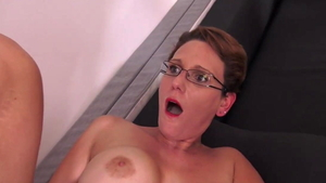 Girl Sandy Lou lusts hard nailining in glasses HD