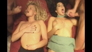 Group sex together with charming blonde haired