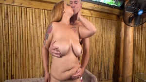 Hottest and large boobs Alexis Love pussy fucking on vacation