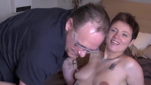 Sucking cock with young french brunette