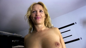 Threesome outdoors among large boobs stepmom