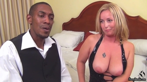 Huge tits naughty mature POV creampie after interview HD