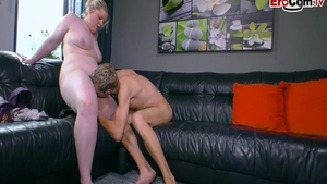 Got fucked hard at the casting alongside skinny BBW