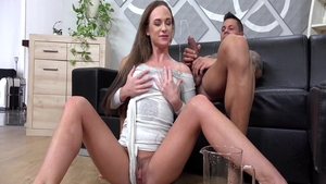 Charming sweet slut Cristal Caitlin experience squirting in HD