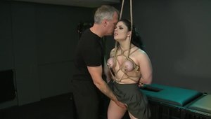 Loud sex escorted by big tits brunette Lucia Love