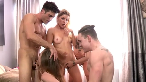 Ashley Fires group sex porn
