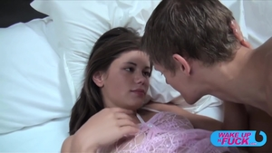 Flat chest brunette really likes raw fucking HD