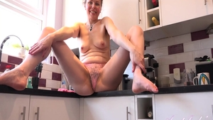 Pussy fuck in the kitchen