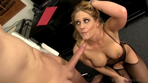 Large tits Holly Heart cougar cumshot sex scene