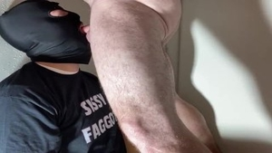 'Straight Alpha Feeds His Personal Faggot penis sucker greater quantity cum And piss'