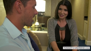 Large tits brunette Romi Rain agrees to the best sex HD