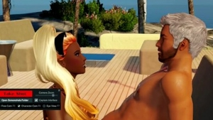Large boobs french female orgasm at the beach