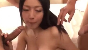 Accompanied by chubby big butt japanese babe
