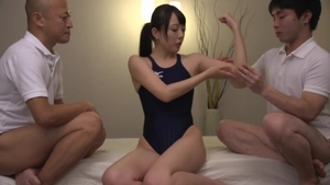 Massage kinky japanese in the swimsuit