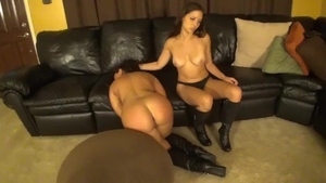 Hot and big boobs stepmom Ariel X fetish catfight