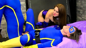 Threesome together with in latex in HD
