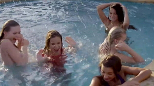 Orgy next to gorgeous brunette Patricia Patritcy outdoors