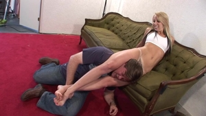 Torture escorted by big ass babe