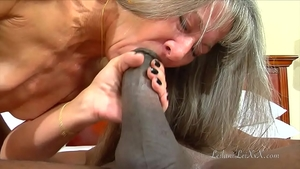 Ramming hard in company with small tits mature