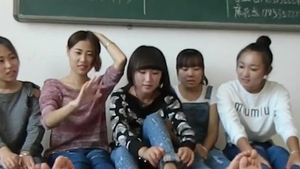 Nailing chinese college girl in socks