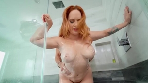 Small boobs Summer Hart surprise female orgasm in shower