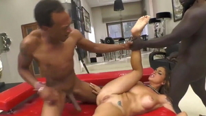 Nailed rough with Freddy Gong accompanied by Malena Nazionale