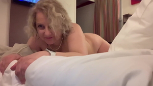 Passionate and naked MILF softcore doggy sex in hotel