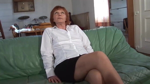 Hairy french granny rough got her pussy smashed
