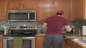 'nailing AND COOKING! humongous latin chick Wife acquires nailed while The husband Cooks'