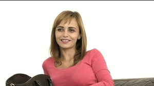 Dirty talk at the audition among saggy tits european MILF