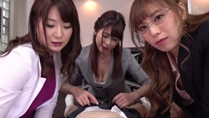 Japanese college student POV cumshot in office