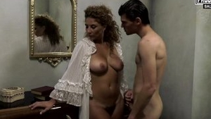 Hard ramming with young italian mature