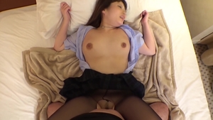 Pussy sex in company with busty japanese dentist
