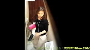 Masturbating in the store very nice japanese in HD