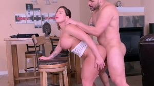 Rough nailing together with big tits mature