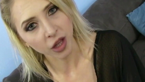Young blonde hair cum swallowing throat fucking HD
