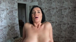 Huge tits mature POV female orgasm pussy eating in HD