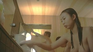 Voyeur asian in the shower